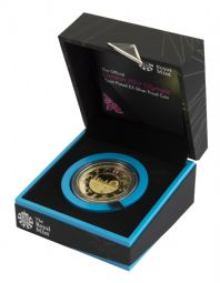 2012 Silver Proof £5 Coin London 2012 Olympic GOLD PLATED for sale